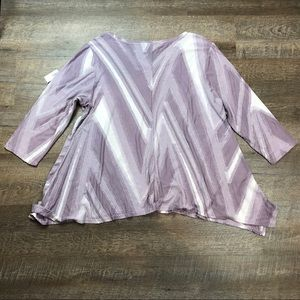 Simply Vera Vera Wang Tops - Simply Vera Vera Wang Textured 3/4 Sleeve Top 1X